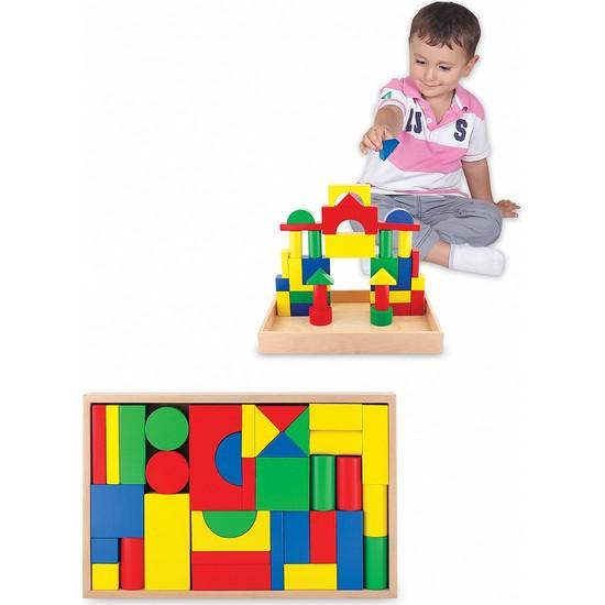 Ahşap Oyuncak - 35 Parça Büyük Ahşap Bloklar