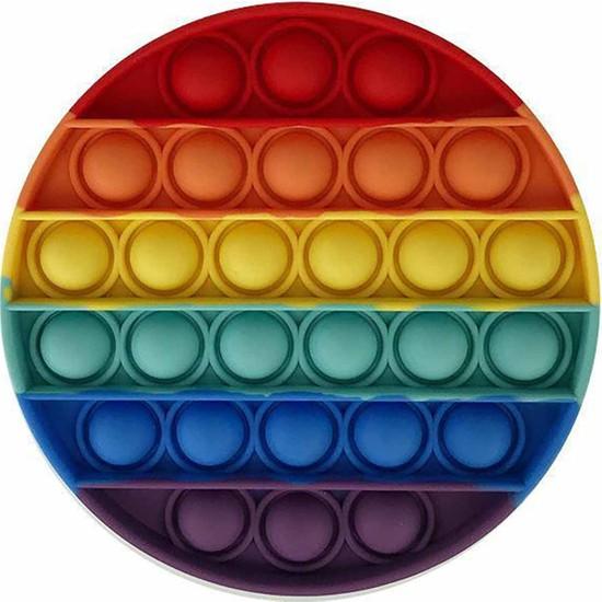Push Pop Bubble Pop It Duyusal Oyuncak Özel Pop Stres Gökkuşağı Renkli - Daire