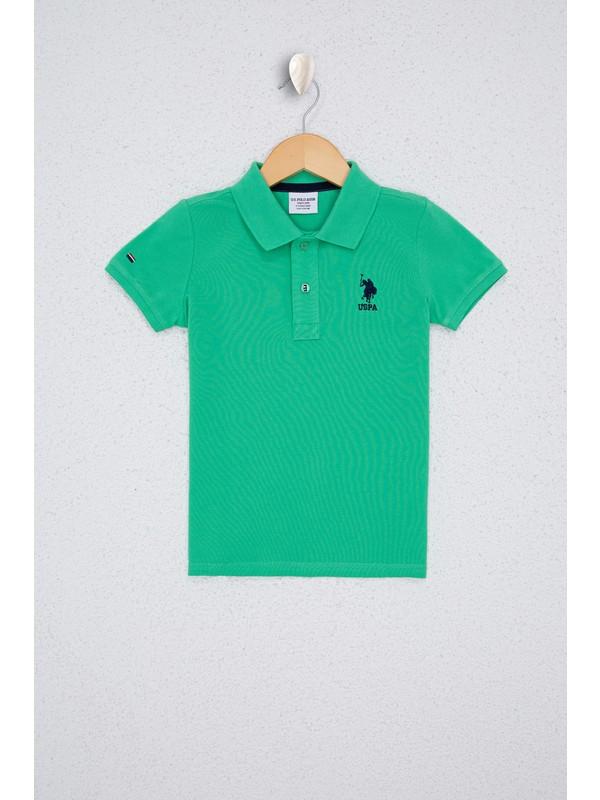 U.S. Polo Assn. Erkek Çocuk Yeşil T-Shirt Basic 50232279-VR020