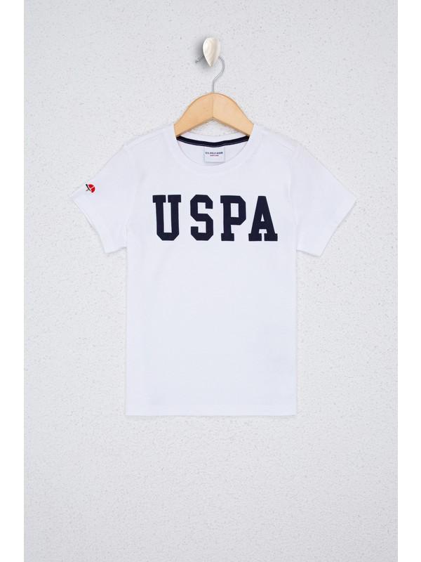 U.S. Polo Assn. Erkek Çocuk Beyaz T-Shirt Basic 50232275-VR013