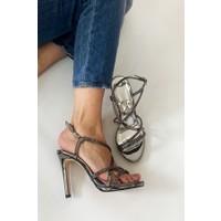 La Scada MR6038 Platin Kadın Abiye Ayakkabı