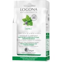 Logona Arındırıcı Yüz Temizleme Maskesi - Organik Nane ve Salisilik Asit 2x7,5ml