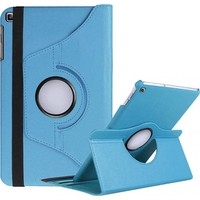 Canpay Samsung Galaxy T720 Kılıf (Tab S5E) Standlı Pu-Leather Desing Tablet Kılıfı Mavi