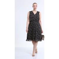 Myline Astarlı Kolsuz Şifon Elbise