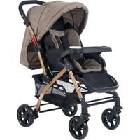 Cansın Mini Active Gold Çift Yönlü Bebek Arabası-Kahverengi 98245-1