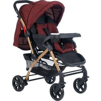 Cansın Mini Active Gold Çift Yönlü Bebek Arabası-Bordo 98245-2