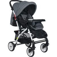 Cansın Mini Active Beyaz Çift Yönlü Bebek Arabası-Gri 98246