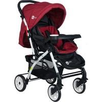 Cansın Mini Active Beyaz Çift Yönlü Bebek Arabası-Bordo 98246-2