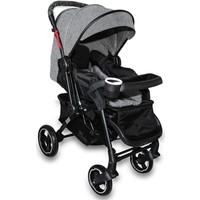 Cansın Mini Active Plus Siyah Çift Yönlü Bebek Arabası-Gri 98244