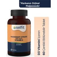 Eczacıbaşı Selfit Magnezyum Sitrat 200 Mg & Vitamin D 60 Tablet - SKT: 04.2023
