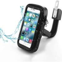 Juo Motosiklet Bisiklet Telefon Tutucu Suya Dayanıklı Xlarge Ayna Bağlantılı