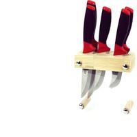 Ezop Woods Ahşap Stantlı Bıçak Seti 5'li