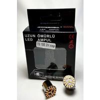 Rockswell 1156 18 Smd 3014 LED Ampulü Geri Vites/plaka/sinyal/stop Turuncu Renk