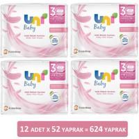 Uni Baby Pudra Kokulu Islak Mendil & Havlu Özel Seri 12 x 52 624 Yaprak