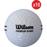 Wilson 10 Adet WS115 Premium Range Golf Topu Beyaz