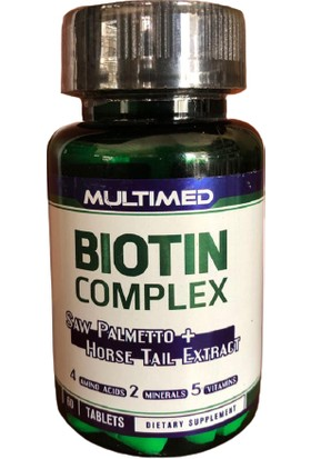 Multimed Biotin Complex 60 Tablet Saw Palmetto