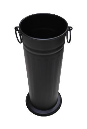 Esosh Home Dekoratif Demir Kulplu Ayaklı Şemsiyelik 50 cm Siyah