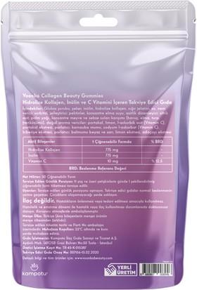 Hidrolize Kollajen Inülin ve C Vitamini Içeren Beauty Collagen Gummies X6 Adet