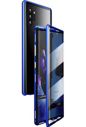 Huawei P30 Pro Kılıf 360 Manyetik Ön Arka Cam Koruma Frank Mavi