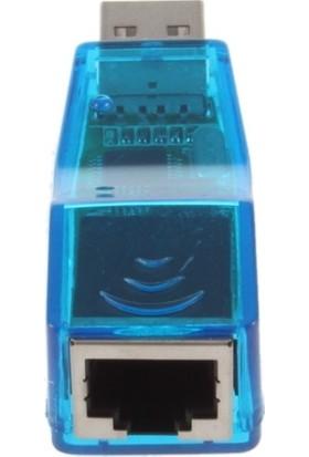 Alfais 4592 USB Ethernet Çevirici Dönüştürücü Adaptor Internet Cat5 RJ45