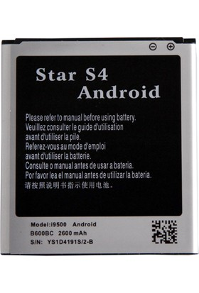 Protech Samsung Galaxy S4 I9500 Standart Batarya (2600 Mah) EB-B600BEBECWW