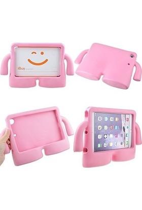 Aşksesuar Samsung Galaxy Tab A7 10.4 T500 (2020) Kılıf Ibuy Çocuklara Özel Emojili Pofuduk Silikon Kılıf + Kalem Turuncu