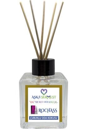 Aşk-I Sermest Tarçın Aromalı Bambu Çubuklu Oda Kokusu Parfüm, Küp Şişe, 60 ml, 5'li