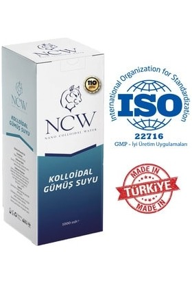 NCW Gümüş Suyu Koloidal Gümüş Mineralli Su 110 Ppm 1 Lt