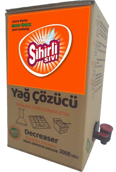 Sihirli Sıvı Konsantre Yağ Çözücü Bag In Box. Doğa Dostu Temizlik 3 Lt