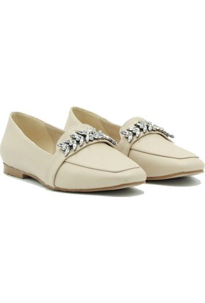 Tuğrul Ayakkabı Kadın Günlük Babet 281-382 Ten.cilt