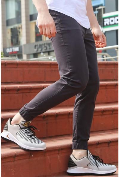 Madmext Jogger Elastik Bel Skinny Daralan Paça Füme Pantolon 4023