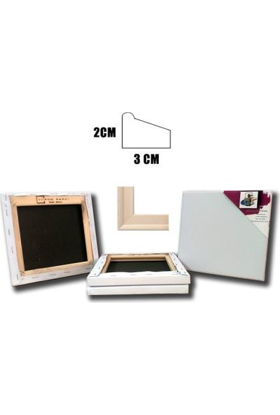 Bordo Sanat Ekonomik Tuval 3+1 10 x 10 cm Set