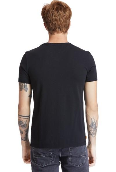Timberland Ss Dunstan Rıver Jersey V Siyah Erkek Kısa Kol T-Shirt