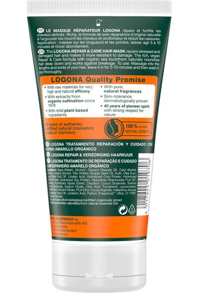 Logona Onarıcı Saç Bakım Maskesi - Organik Yabani Iğde Özlü 150 ml