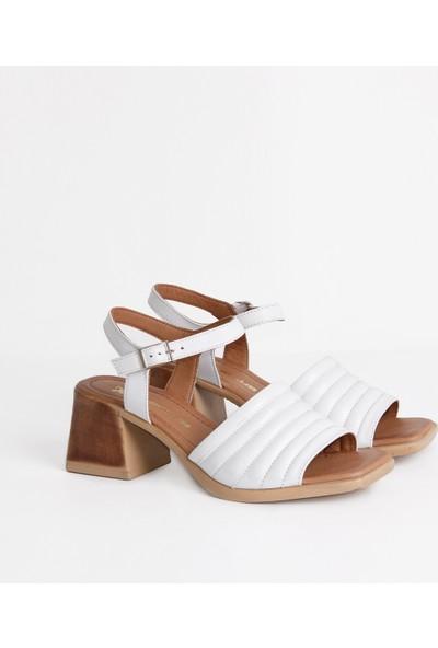 Dericlub 19006 Deri Kadın Sandalet