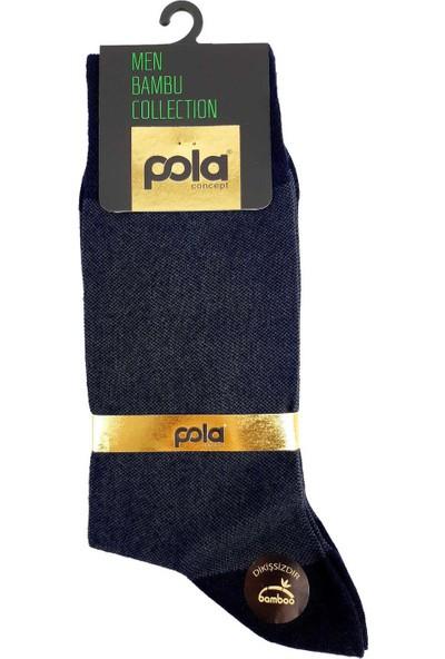 Pola Erkek Weds Bambu Soket Çorap (12 Adet)