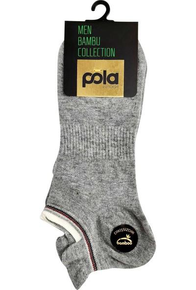 Pola Erkek Vedette Bambu Patik Çorap (12 Adet)