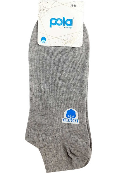 Pola Kadın Chai Cotton Patik Çorap (12 Adet)