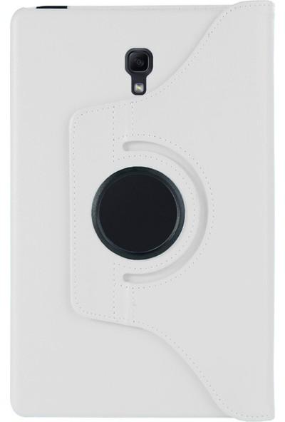 Saleshop Samsung Galaxy Tab S 8.4inç T700 Kılıf 360° Dönen Standlı Flip Cover Beyaz