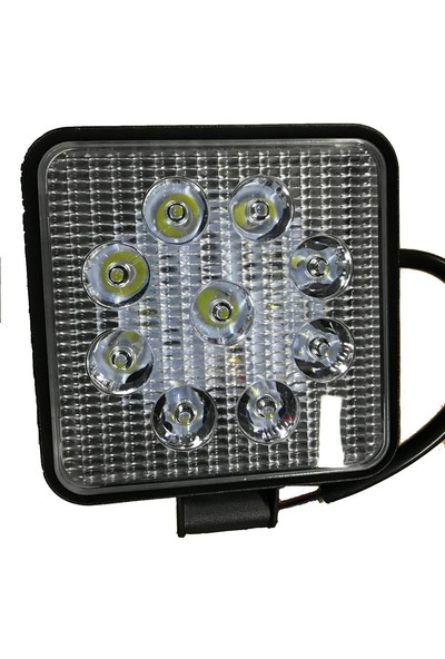 Parstek Off Road Sis Farı Sis Lambası 9 LED Kare 4. Lü Paket