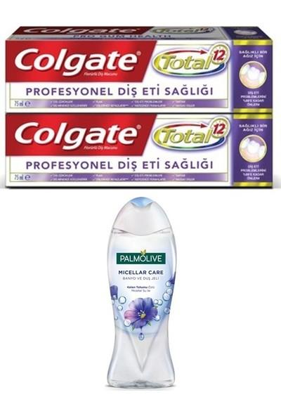 Colgate Total Profesyonel Diş Eti Sağlığı Diş Macunu 2X75 ml + Palmolive Duş Jeli 250 ml