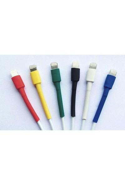 Uyumlu Şarj Kablosu Koruyucu Makaron 12 Adet 6 cm 6 Farklı Renk