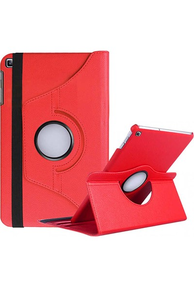 Canpay Samsung Galaxy T500 Kılıf Tab A7 10.4 (2020) Standlı Pu-Leather Desing Tablet Kılıfı Kırmızı
