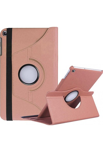 Canpay Samsung Galaxy T500 Kılıf Tab A7 10.4 (2020) Standlı Pu-Leather Desing Tablet Kılıfı Rosegold