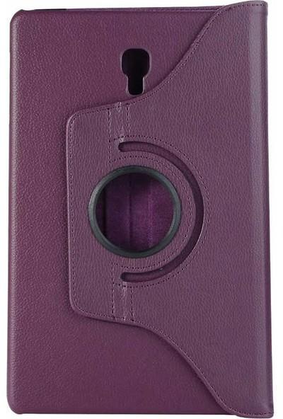 Canpay Samsung Galaxy T590 Kılıf Standlı Pu-Leather Desing Tablet Kılıfı Mor