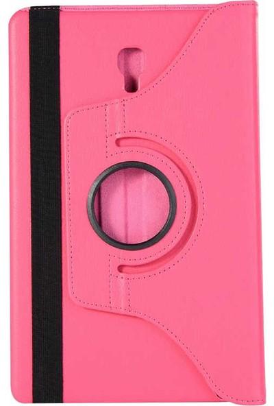 Canpay Samsung Galaxy T590 Kılıf Standlı Pu-Leather Desing Tablet Kılıfı Koyu Pembe