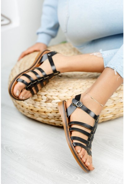 Muggo MGHELEN07 Deri Kadın Sandalet