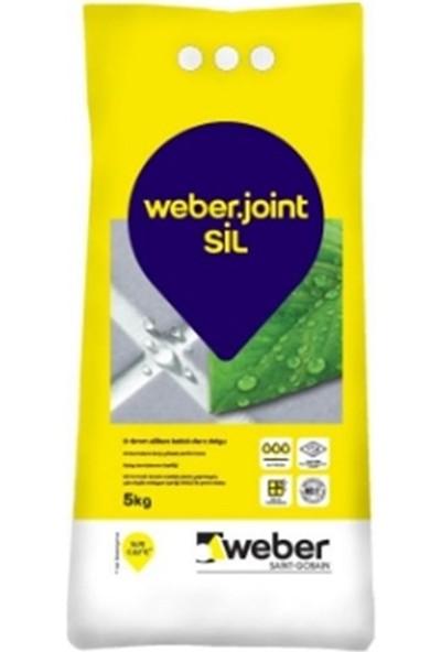 Weber Joint Silikonlu Derz Dolgusu Açık Gri 5 kg