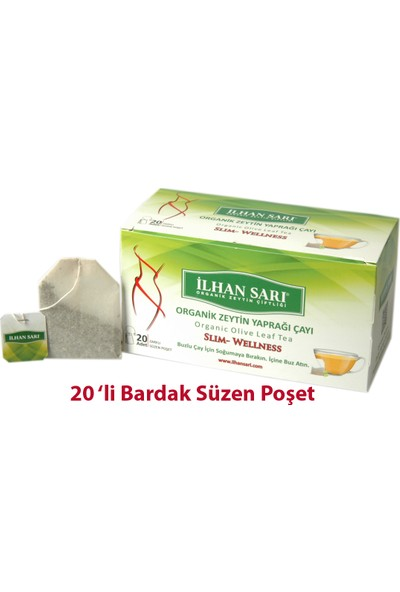 Ilhan Sarı Organik Zeytin Yaprağı Çayı 20'li Bardak Poşet