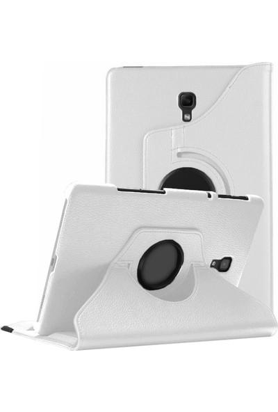 "Volente Samsung Galaxy Tab S4 10.5"" T830 T835 T837 Kılıf 360° Dönen Standlı Flip Cover Beyaz"